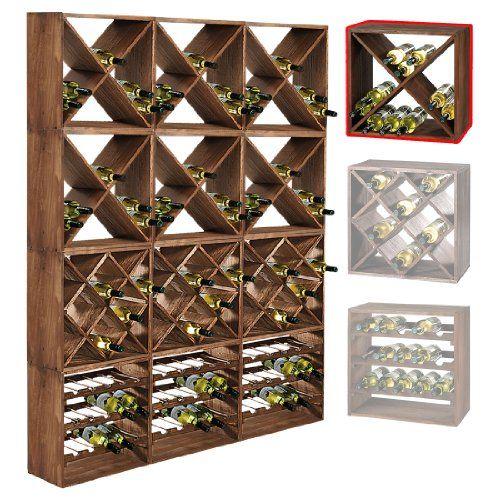 Weinregal Aus Holz Module Cube Stapelbar Vinowo De
