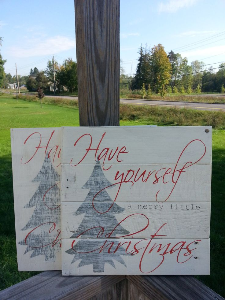 Christmas sign, Have yourself a merry little christmas, pallet sign, reclaimed wood sign, merry christmas, holiday decor, christmas decor - pinned by pin4etsy.com