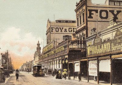Postcard c 1906 Foy & Gibson, Smith St Collingwood from SLV via www.smithstreet.org