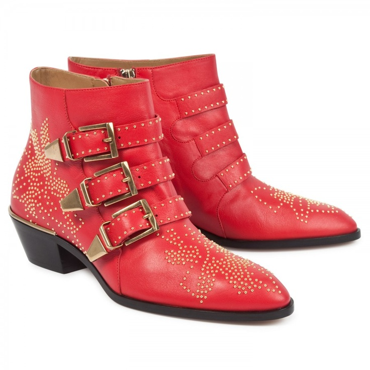 Embellished leather ankle boots, Boots, Harvey Nichols Store View