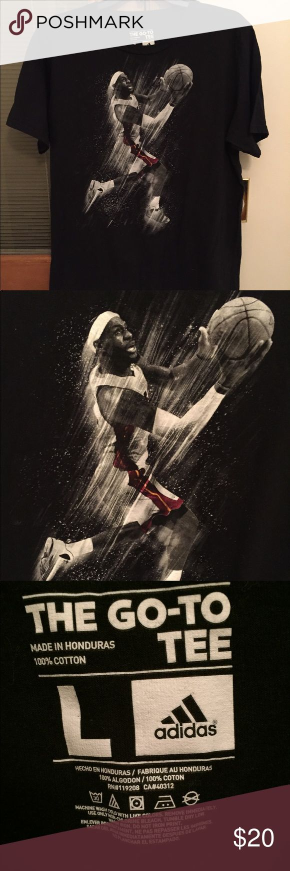 Lebron James t-shirt size L. Adidas brand Lebron James t-shirt size L. Adidas brand adidas Shirts Tees - Short Sleeve