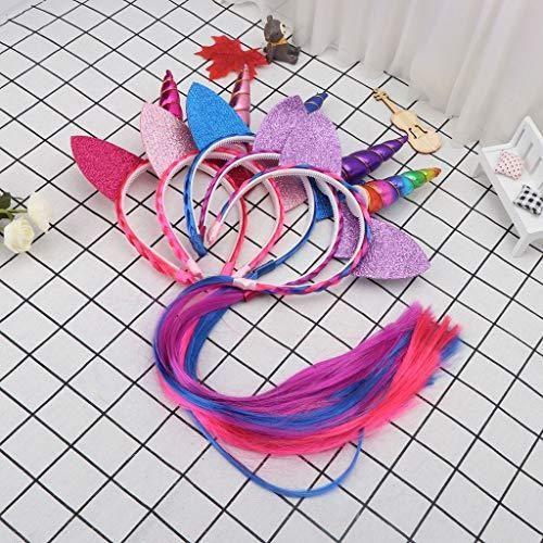 Unicorn Hair Hoop Rainbow Color Headbands | Glitter Ears ...
