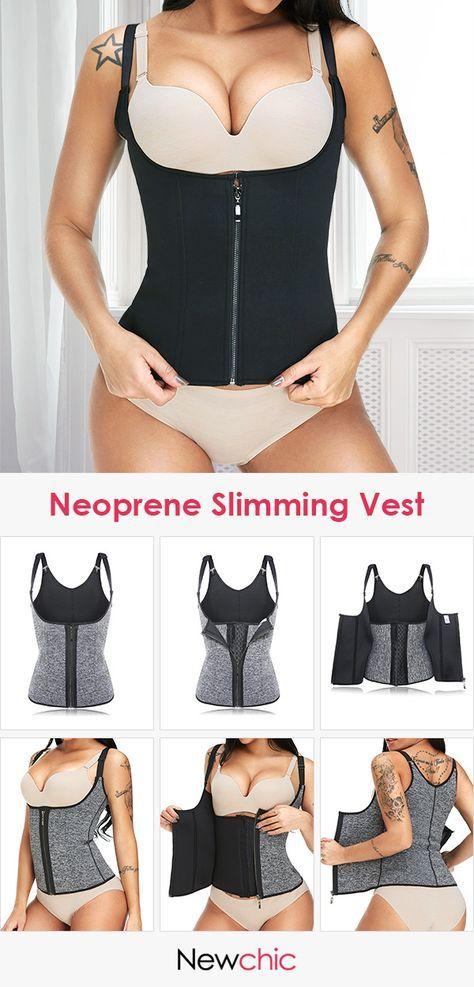 7c74cd1d607 Neoprene Fitness Slimming Vest Tummy Control Shaper Steel Bones Push Busty  Shapewear  shapewear  busty  bodysuit  tummy  control