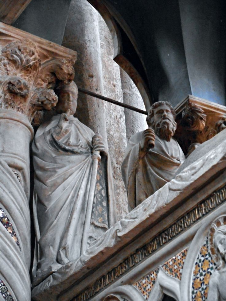 """https://flic.kr/p/vGuhRb   """"Saint Ludovic from Toulouse and Saint Paul"""" (Detail) - Sepulchre of Katherine of Hapsburg (1323) by Tino di Camaino (Siena, about 1285-Naples, about 1337) and apprentices - Church of San Lorenzo Maggiore in Naples   it.wikipedia.org/wiki/Caterina_d'Asburgo_(1295-1323) www.flickr.com/groups/napolinobilissima/discuss/721576510..."""