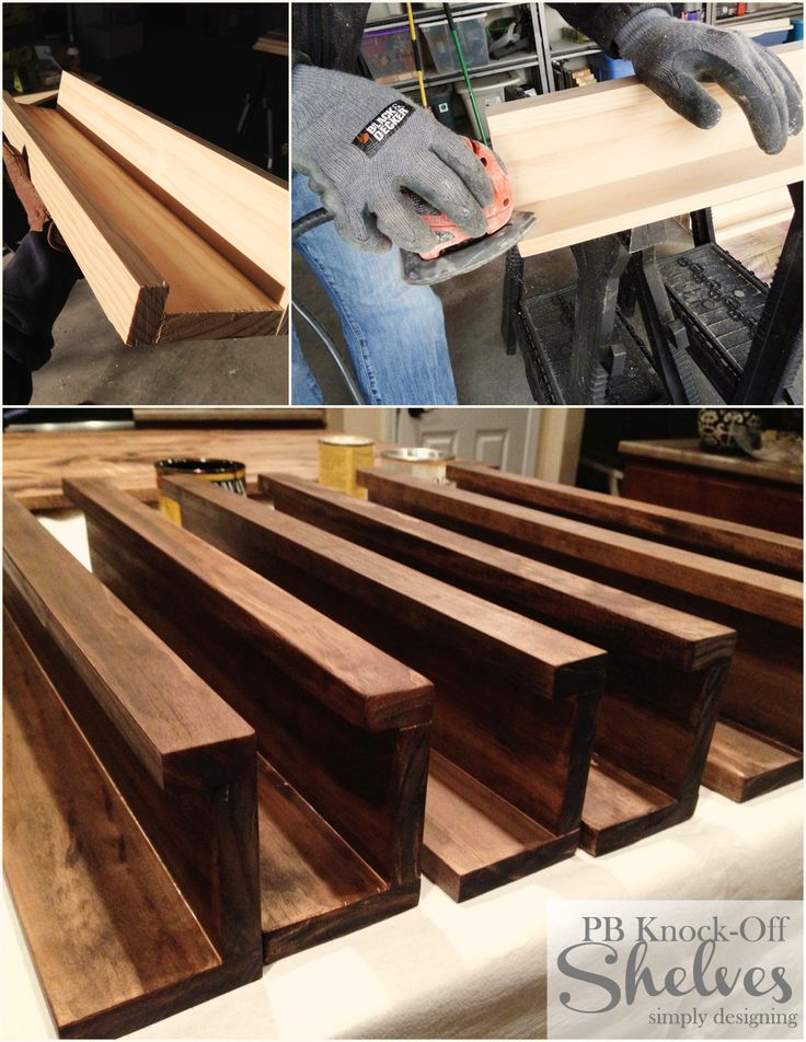 DIY Shelves | how to make knock-off shelves with a Kreg Jig | #diy #shelves #knockoff  http://www.simplydesigning.net/2014/02/diy-knock-off-shelves.html?utm_source=feedburner&utm_medium=email&utm_campaign=Feed%3A+SimplyDesigning-HomeFloralSeasonalCraftsDesigns+%28Simply+Designing+with+Ashley%29