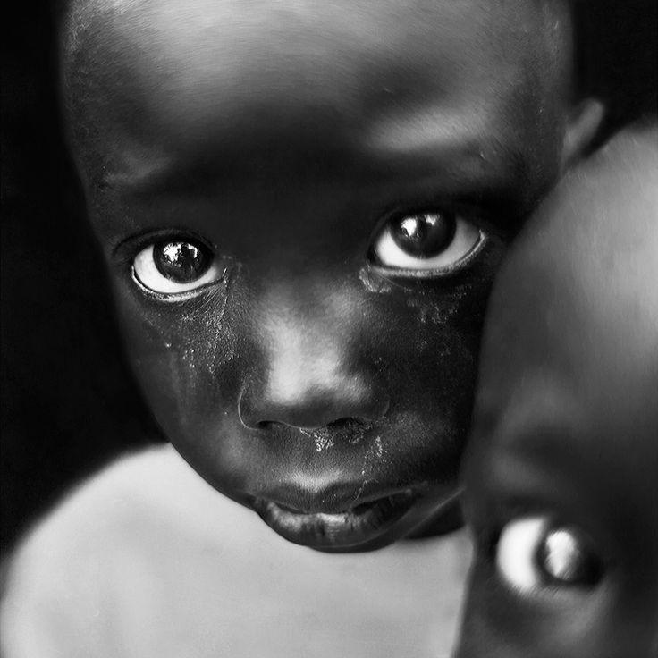 Sad eyes. #BW #portrait #child