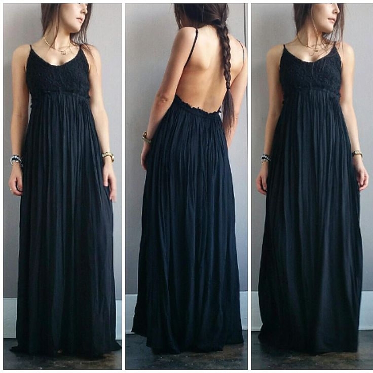 A Gorgeous Crochet Maxi in Black