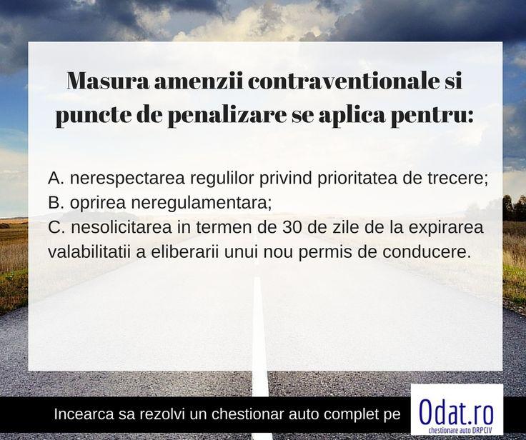 Poti raspunde la intrebarea capcana? Incearca sa raspunzi fara sa verifici varianta pe: https://www.odat.ro/Masura-amenzii-contraventionale-si-pun…/