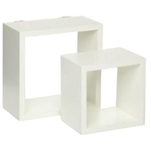 Cube Shelving Kit - White Perfect for highlight products and saving space.