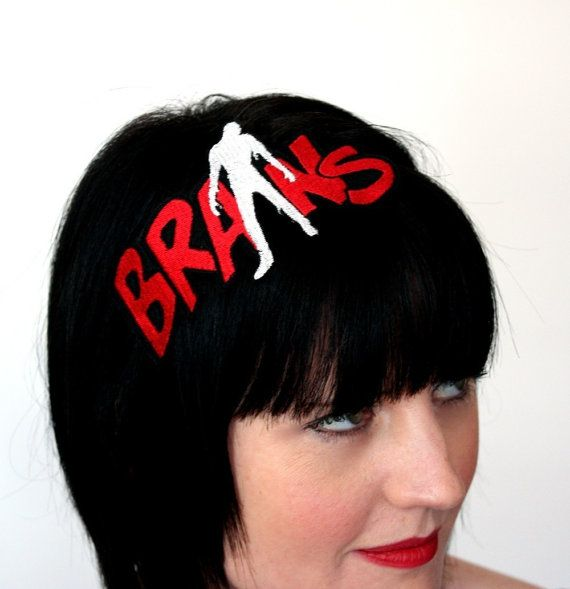 Zombie Brains Headband Red and White by JanineBasil on Etsy, £16.00 I used to have this head band. I miss it. I may have to rebuy it and a few other things.