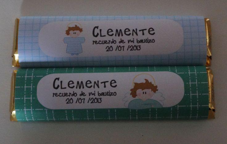 Chocolates personalizados para regalar en un Bautizo