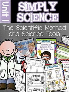 This unit, by Kim Adsit, is designed to teach primary children the scientific method and how to handle science tools. It contains:15 scripted mini lessons with all the pieces needed to conduct10 Anchor charts ready to print (no assembly)13 Centers/activities3 Experiments with easy to follow experiment cards and student response pages2 Craftivities1 Nonfiction Writing Booklet1 How To Writing Booklet1 Tree Map for Science Tools1 Science Tools Guided Reading Book written at 3 different levels…