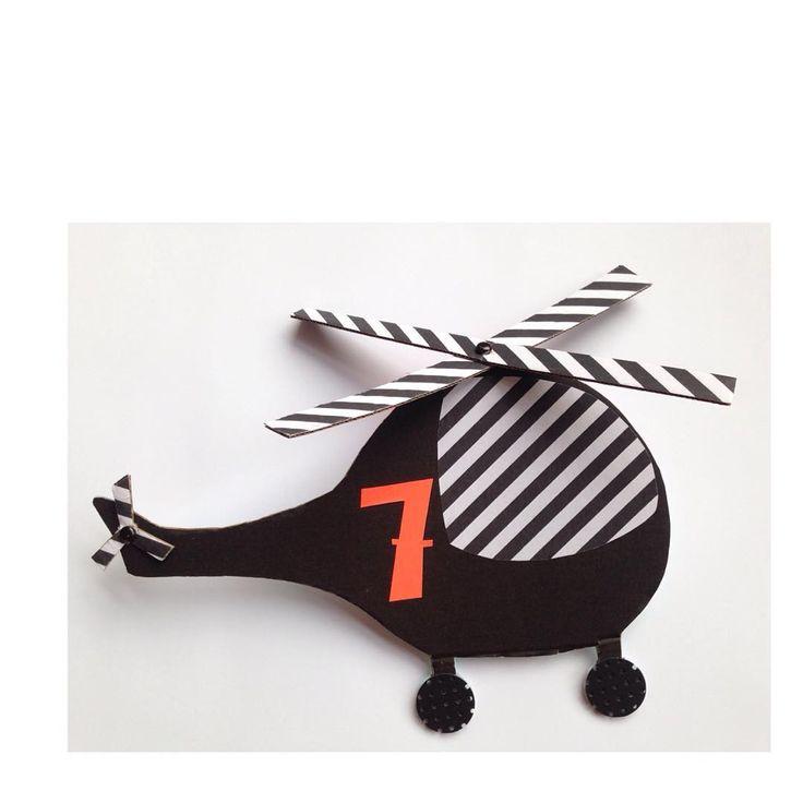 HelicopterBirthdayCard ❼❼❼❼❼  #birthday #geburtstag #birthdaycard #geburtstagskarte #helicopter #hubschrauber #cardboard #diy
