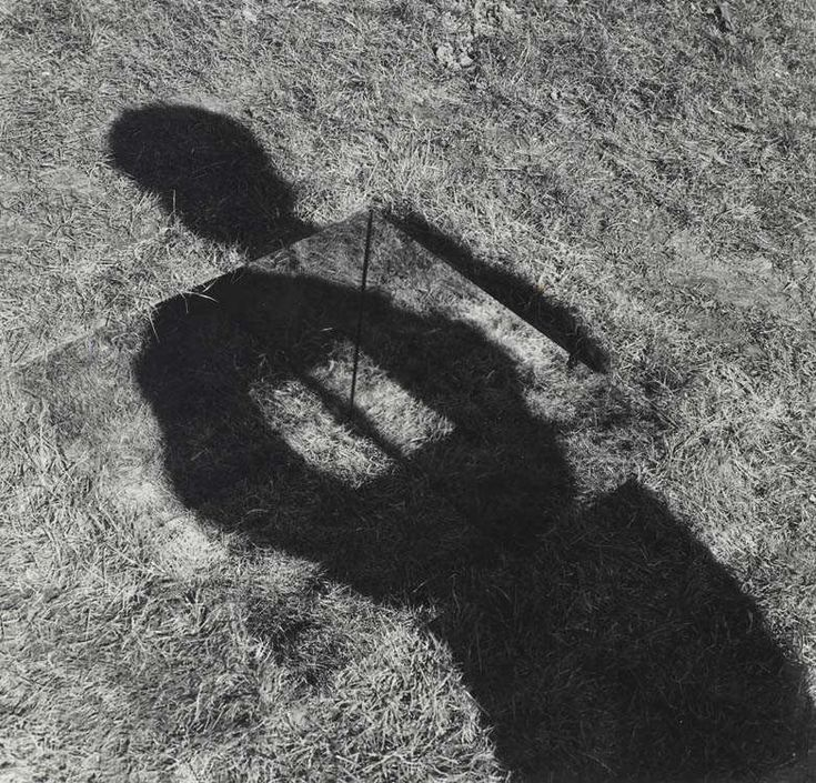 Keith Arnatt Mirror-lined pit (grass bottom) An invisible hole revealed by interior shadow, 1968 (first executed in June 1969)  black and white print  29.5 x 30.8 cm - 11 5/8 x 12 1/8 inches   © Keith Arnatt  Courtesy Maureen Paley, London