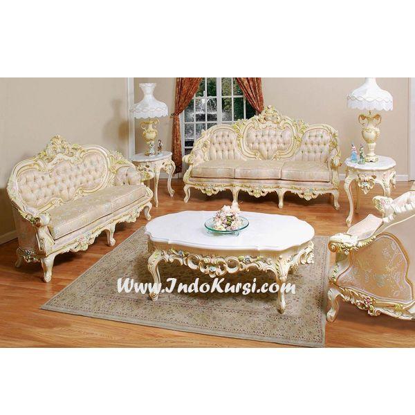 JualKursi Tamu Sofa Ukiran Mewah desain Kursi Tamu Mewah Ukiran Jepara dengan Jok Busa yang nyaman dan warna Cat Duco Yang Solid elegant Cocok Untuk Ruang Tamu anda