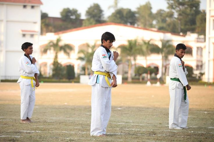 Taekwondo in Tula's International Boarding School on Sports Day.