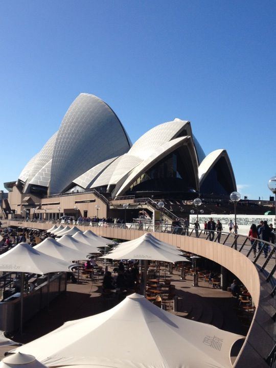 Sydney Opera House Forecourt in Sydney, NSW.  Speaks for itself.  Sydney is awesome!! Go Blues!