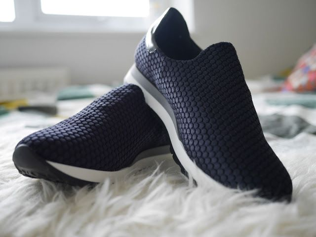 Alliy navy velvet casual trainers - image from danielleyc   UK Fashion & Lifestyle Blog