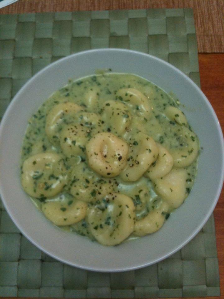 Gluten Free Gnocchi with spinach