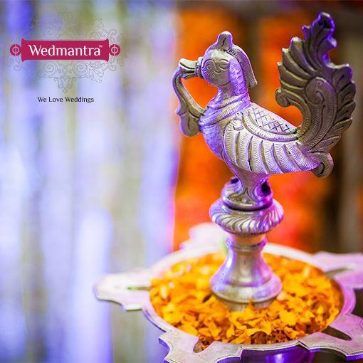 The traditional lamp that is ceremonially lit. #wedmantra #wedding  #indianwedding #weddinginindia #weddingplanner #eventplanner #traditionalwedding #traditional #weddingritual