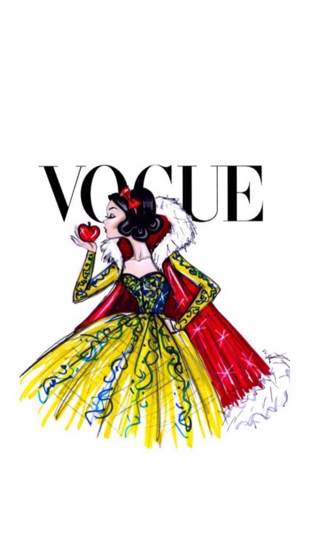 Vogue Disney iPhone wallpaper - Snowhite: