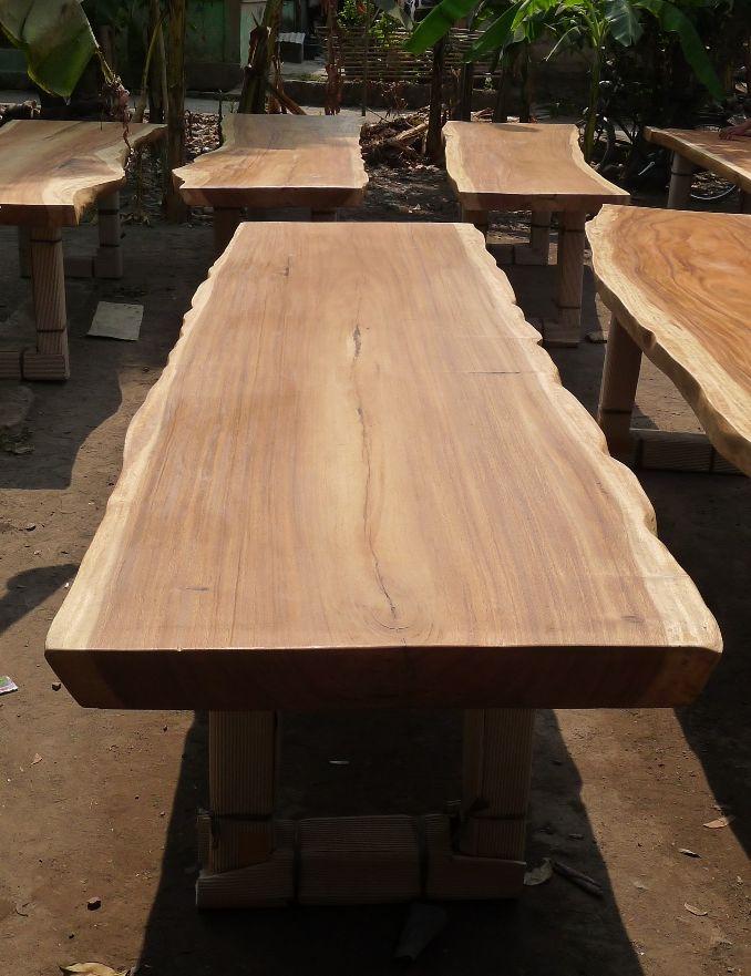 Live Edge Dinning Table 300 x 90 x 78. -  Supplier - Wholesaler Wood Slab Table - Yogyakarta - INDONESIA email : rinawida07@yahoo.com