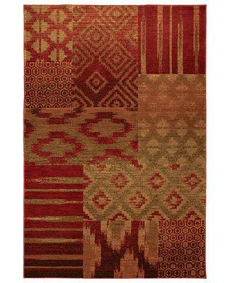 "Karastan Area Rug, Studio by Karastan Carmel Cypress Point Crimson 5' 6\"" x 8' 3\"""
