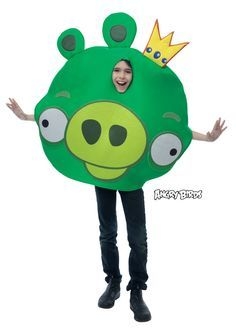 Angry Birds Costumes King Pig One-Size Ages 8+ NEW! Green, Polyester, Tunic http://www.shopprice.com.au/angry+birds+costume