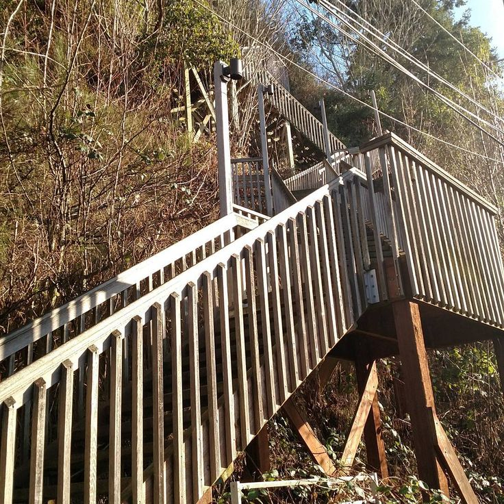 Living in paradise comes at a price. Getting home is either taking an extreme hiking trail (a narrow, 29% grade on loose ground in the edge of a cliff) or the stairs - all 209 of them!   Costco trip anyone?