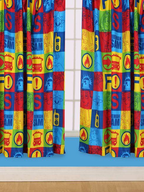 Fireman Sam Duty Curtains - Kids Bedroom