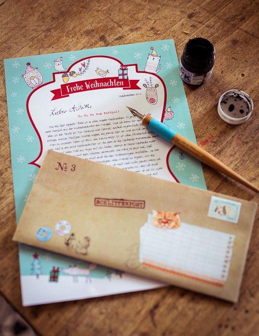 Brief vom Weihnachtsmann als Geschenk