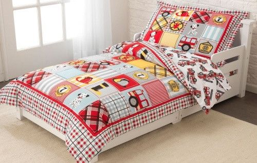 KidKraft Fire Truck Toddler Bedding - 77003