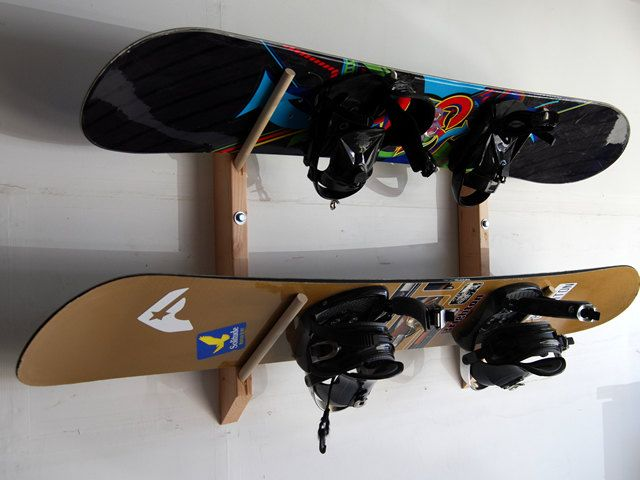 2 Snowboard Storage Wall Rack. would be a nice way to display boards