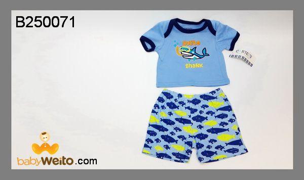 B250071  Baju Setelan Boy Shark  Bahan halus dan lembut  Warna sesuai gambar  IDR 100*