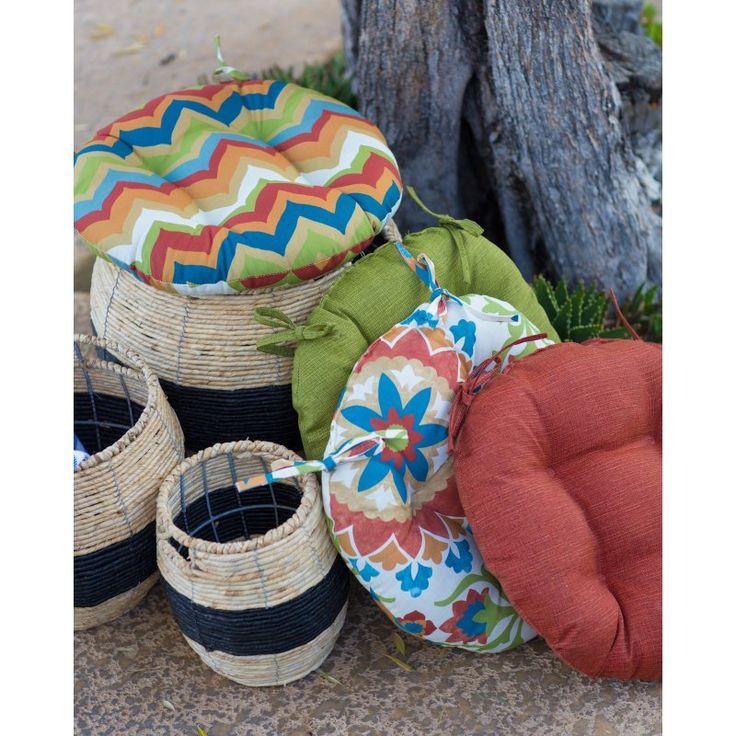 Coral Coast Cantara Bistro Outdoor Round Seat Cushion - 16 in. diam. - PT16RNPK1-3167D