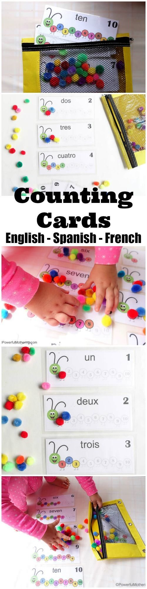 Spanish colors for preschool - Printable Numbers 1 10 Is A Toddler Fine Motor Skills Busy Bag With Number Recognition