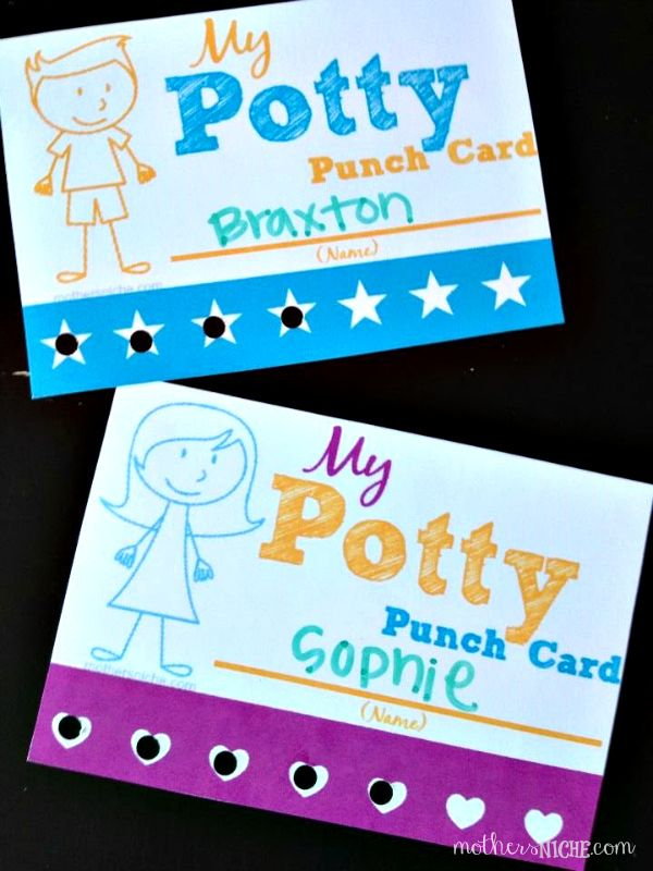 potty punch card. So fun for motivating potty training success