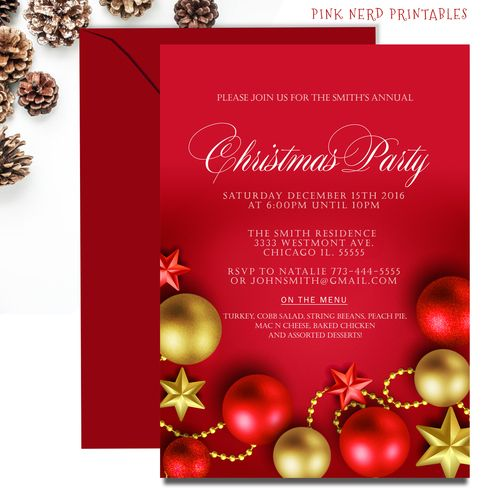 24 best Christmas Invitations Kids Christmas party invitation – Invitation to a Christmas Party