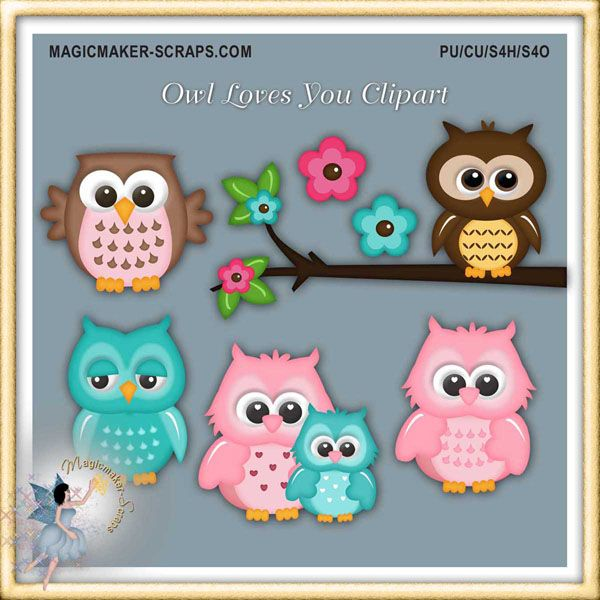 Owl Loves You Clipart