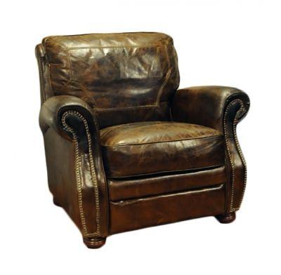 Cuba vintage leather skinnstol