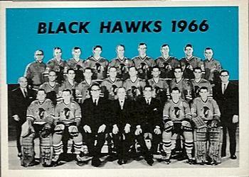 1965-66 Topps Hockey 124 Chicago Black Hawks Hockey Card