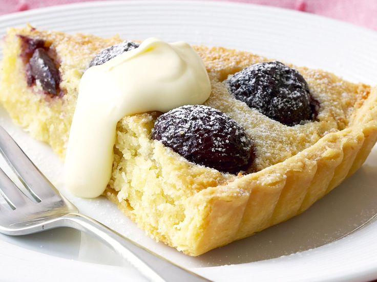 Cherry and almond tart, cherry recipe, brought to you by Woman's Day