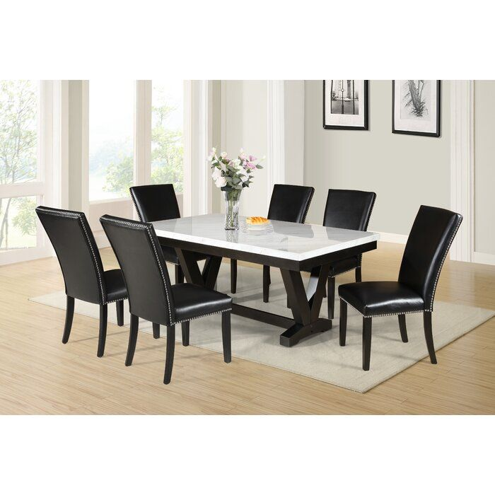 Cedric Dining Table In 2020 Marble Dining Dining Table Marble Dining Table With Bench