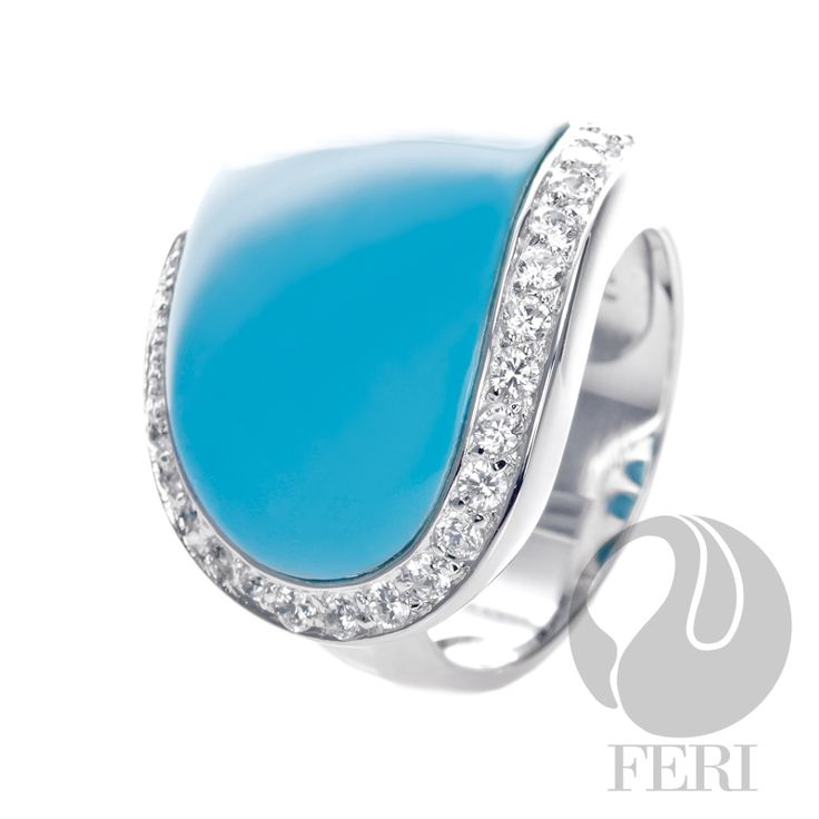 "10. Turquoise! Everyone should have some. This is the FERI 950 Seledium Silver Turquoise Ring; there are more pieces in turquoise, including affordable ones in our POSH line, if you select ""visit site""."