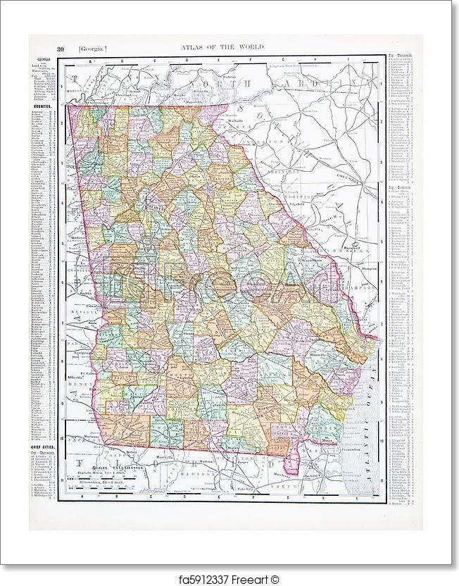 The Best Map Of Georgia Usa Ideas On Pinterest Map Of - Map of georgia united states