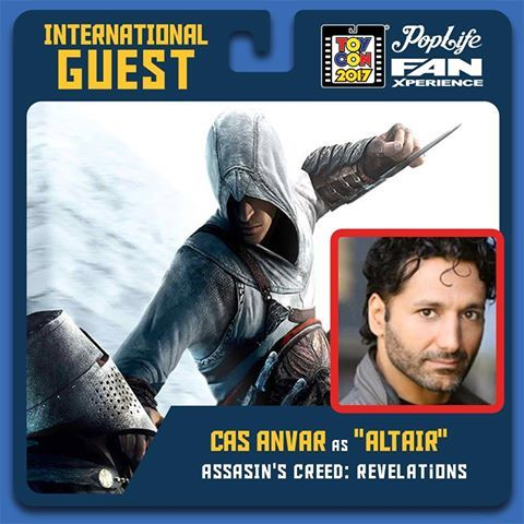 Always want to see in person International Guest star Cas Anvar being Master Altair/Assassin's Creed Revelations always gives his fans PopLife FAN XPERIENCE.