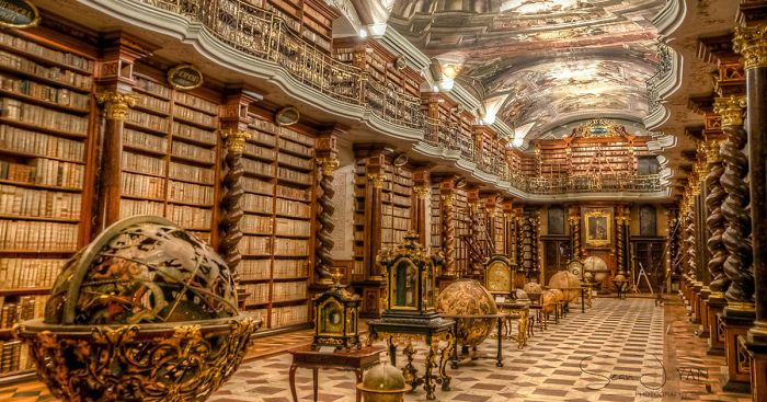 The World's Most Beautiful Library Is In Prague, Czech Republic | Bored Panda