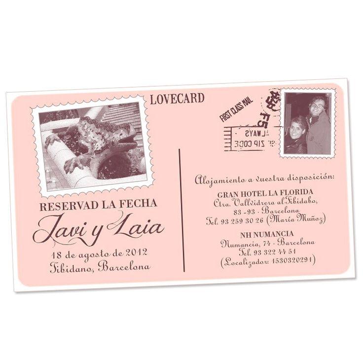 Save the date . Invitaciones boda . Postal . Invitacions de casament vintage . Vintage . Tarjetas boda vintage