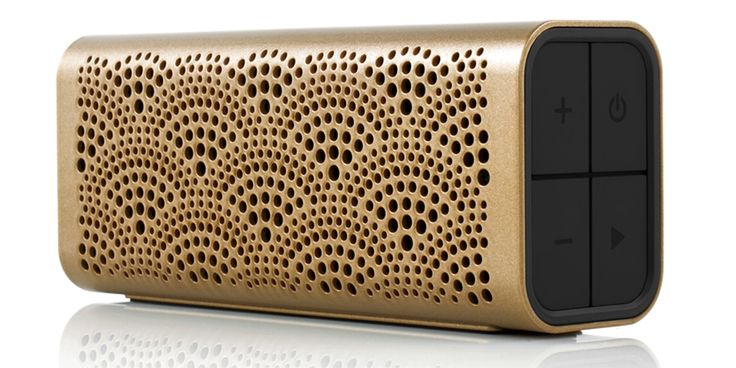 Braven's luxe wireless system gives the standard iPhone speakers a run for their money with Bluetooth technology that plays music from any device, ansers phone calls and even charges your devices with a built-in charging station.   Braven Lux Wireless Bluetooth Speaker, $100, braven.com.   - HarpersBAZAAR.com