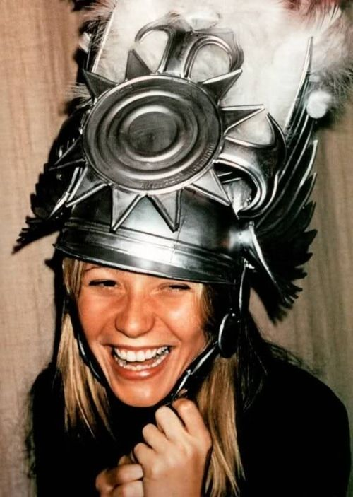 This picture of Gwyneth wearing this silly hat.